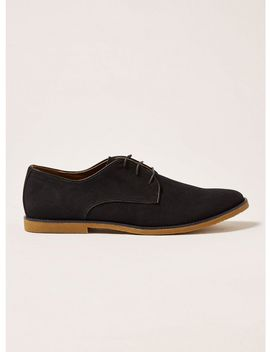 Navy Faux Suede Spark Desert Shoes by Topman