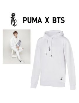 Puma Bts Official Goods Bangtan Boys Ls Shoelace Hoody Hoodie Shirts White Color by Puma