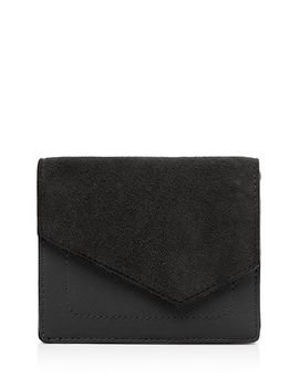 Cobble Hill Small Suede & Leather Wallet by Botkier