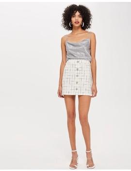 Trashy Trim Boucle Skirt by Topshop Petite