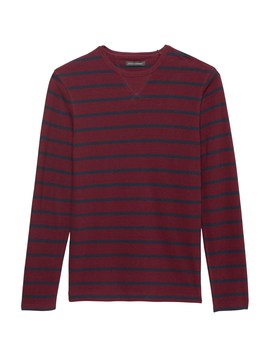 Heritage Stripe Long Sleeve Crew Neck T Shirt by Banana Repbulic