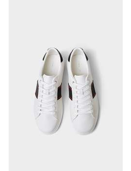 Plimsolls With Side Stripes  View All Shoes Man by Zara