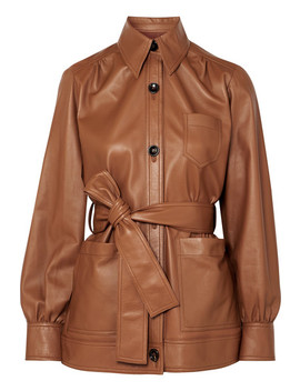 Saul Belted Leather Jacket by Joseph