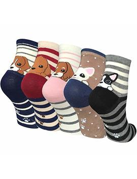 Chalier 5 Pairs Womens Cute Animal Socks Casual Cotton Crew Funny Socks by Chalier