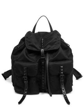 Studded Nylon Backpack by Prada