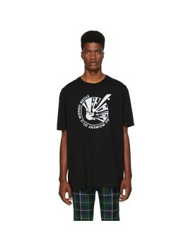 Black 'le Monde Brûle' Oversized T Shirt by Faith Connexion