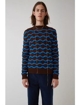 Wavy Sweater Brown/Blue by Acne Studios