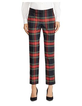 Plaid Straight Pants   100 Percents Exclusive by Lauren Ralph Lauren