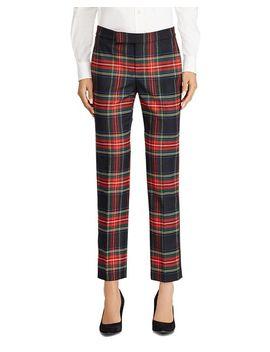 Plaid Straight Pants   100 Percents Exclusive by Lauren Ralph Lauren