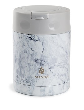 12oz. Handle Lunch Pot   White Marble by Core Home
