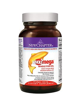 New Chapter Fish Oil Supplement   Wholemega Wild Alaskan Salmon Oil With Omega 3 +... by New Chapter