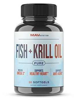 Pure Fish + Krill Oil Designed To Aid In Brain Health, Memory, Focus, Joint Health, And... by Mav Nutrition