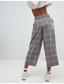 Pull&Bear Checked Crop Pants by Pull&Bear