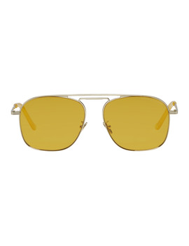 Gold 1310 06 Aviator Sunglasses by Cutler And Gross
