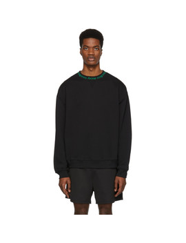 Ssense Exclusive Black & Green Flogho Sweater by Acne Studios