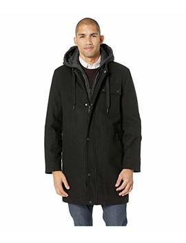 Wool Melton Parka W/ Removable Bib/Hood by Marc New York By Andrew Marc