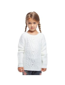 Little Girl's Ivy Cable Knit Sweater by Dex