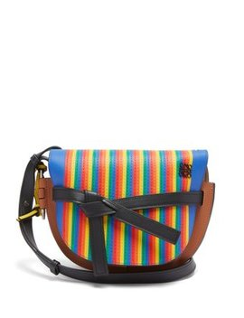 Gate Marquetry Striped Leather Cross Body Bag by Loewe