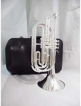Bb Key Marching Trombone Silver Plated With Hard Case Brass Body Wind Musical Instruments Professional by Suerte