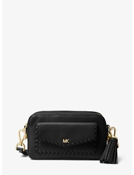 Small Whipstitched Leather Camera Bag by Michael Michael Kors