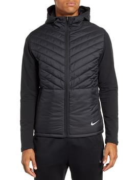 Aero Layer Hooded Running Jacket by Nike