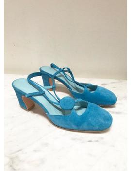 Maryam Nassir Zadeh Penny Slingback Sandal   Turquoise by Garmentory