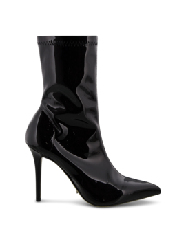 Demi Midnight Stretch Patent Ankle Boots by Tony Bianco