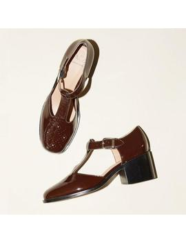 No.6 Marianne T Strap Shoes   Espresso Crinkle by Garmentory