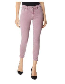 835 Capri Skinny Jeans In Lilac Destruct by J Brand