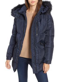 Puffer Jacket With Faux Fur Trim by Rachel Rachel Roy