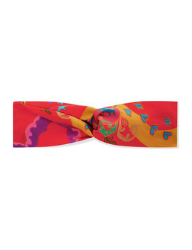 Knotted Printed Silk Satin Headband by Etro