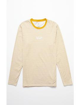 Vans Drop V Stripe Gold & White Long Sleeve T Shirt by Pacsun