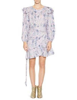 Telicia Ruffle Wrap Dress by Isabel Marant Etoile