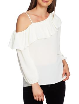 One Shoulder Ruffle Edge Blouse by 1.State