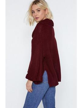 This Is Cowl We Do It Sweater by Nasty Gal