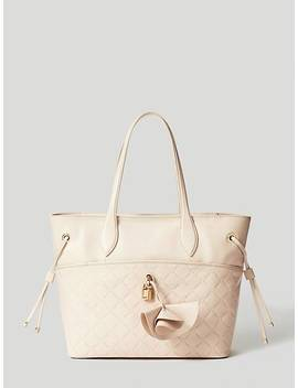 Cleo Quilted Leather Shopper by Guess