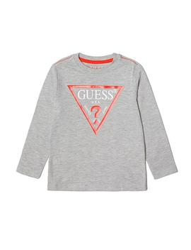 Short Sleeve Striped Logo Tee (7 14) by Guess