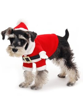 Cute Christmas Dog Clothes Santa Pet Clothing Winter Warm Happy Christmas Gift Pet Present Dog Clothes Santa's Costume With Hat by Speedy Pet