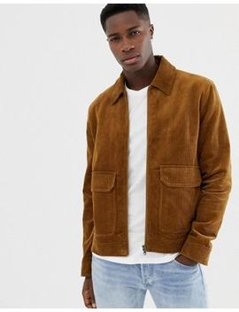 Jack Wills Maxfield Cord Coach Jacket In Camel by  Jack Wills