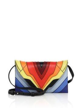 Selina Mignon Multicolor Leather Crossbody Bag by Elena Ghisellini