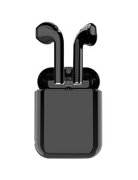 Wireless Bluetooth Earbuds,True Wireless Headphone Stereo Bass Earphones For Sports With Built In Mic And Up To 2.5 Hours Playtime (V5.0,Ipx4 With Case Skin,Black) by Langsdom