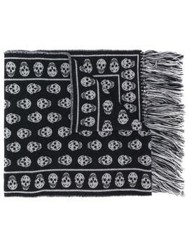 Skull Patterned Scarf by Alexander Mc Queen