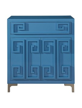 Contemporary High Gloss Blue Two Door Accent Wine Cabinet   Blue   Pulaski by Pulaski