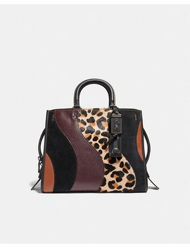 Rogue With Leopard Patchwork by Coach