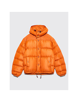 Très Bien X Crescent Down Works Hooded Puffer Jacket Orange by Très Bien