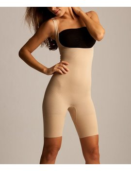 Nude Firm Compression Underbust Shaper Bodysuit   Women &Amp; Plus by Slim Me By Me Moi