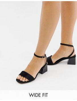 Asos Design Wide Fit Honeywell Block Heeled Sandals by Asos Design