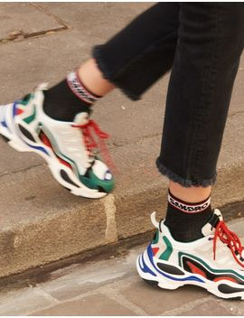 Sneakers With Graphic Soles by Sandro Eshop