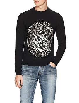 """Saint Christopher"" Wool Sweater by Christopher Kane"