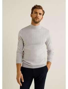 Stripe Patterned Wool Sweater by Mango